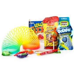 Purim Slinky Kids Gift Baskets Shalach Manos - 8 Pack