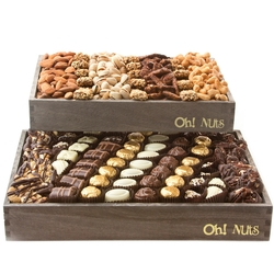 Wooden Truffles and Nuts Double Two Tier Line Up