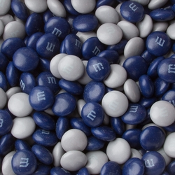 Navy Blue & Grey M&M's Chocolate Candy