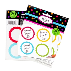 Rainbow Favor Sticker Labels 20ct