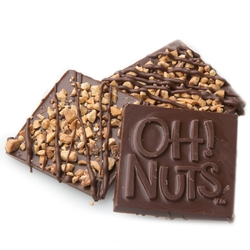 Oh! Nuts Almond Crunch Dark Chocolate Bark Square