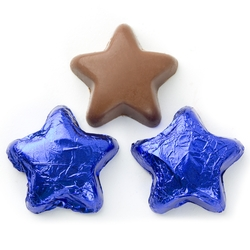 blue chocolate star