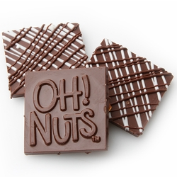 Oh! Nuts Black & White Dark Chocolate Bark Square