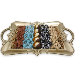 Hanukkah Mirror Tray Chocolate and Nuts - Israel Only