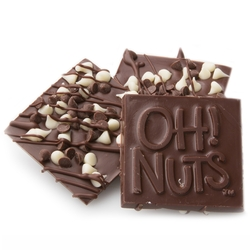 Oh! Nuts Chocolate Chip Dark Chocolate Bark Square