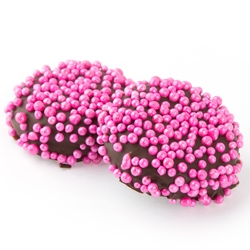 Pink pearls Dark Chocolate Coated Sandwich Cookies