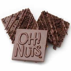 Oh! Nuts Cookie Crunch Dark Chocolate Bark Square