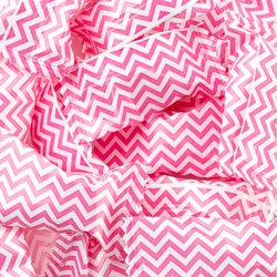 Pink Chevron Stripe Wrapped Buttermint