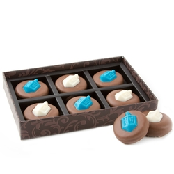 Hanukkah Decorative Chocolate Cookies - 6 Piece