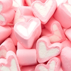 Pink & White Heart Fruit Marshmallow - 1.1LB Bag