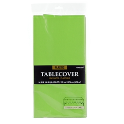 Kiwi Green Plastic Table Cover