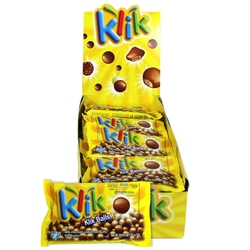 Klik Milk Chocolate Malt Balls Bags - 24 CT Box
