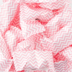 Light Pink Chevron Stripe Wrapped Buttermint