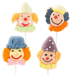 Purim Clown Marshmallow Pops - 12CT