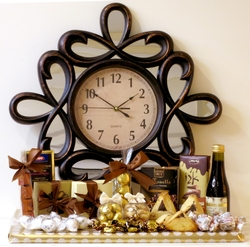 Timeless Purim Clock Gift Basket