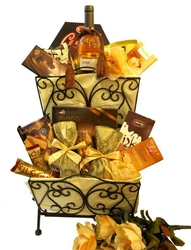 Two Tier Purim Medly Gift Basket (Israel Only)
