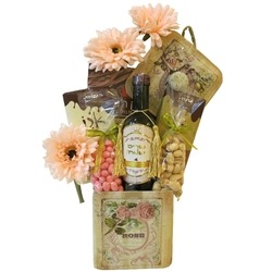 Floral Tin Purim Basket (Israel Only)