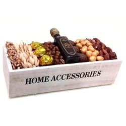Purim Wooden Home Accessories Gift Basket - Israel Only