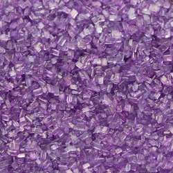Lavender Blue Coarse Sugar Crystals - 11 oz Jar