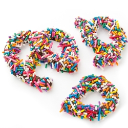 Rainbow Broken Pretzel Pieces - 1 LB Bag