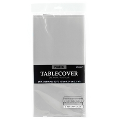 Silver Plastic Table Cover