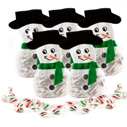 Snowman Drawstring Bag W/ Mints - 8CT
