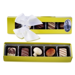 Premium Belgium Truffles Yellow Box - 5 PC Box