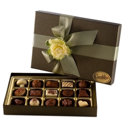 Premium Belgium Truffles Green Box - 15 PC Box
