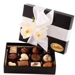 Premium Belgium Truffles Black Box - 12 PC Box