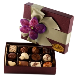 Premium Belgium Truffles Closed Burgundy Box - 8 PC Box