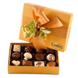 Premium Belgium Truffles Orange Box - 12 PC Box