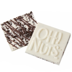 Oh! Nuts Cookie Crunch White Chocolate Bark Square