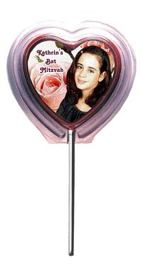 Customized Chocolate Heart Lolly