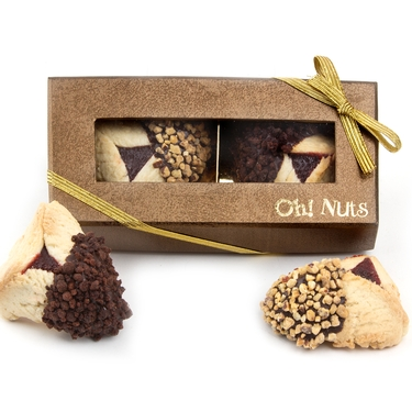 2-Pc. Chocolate Dipped Hamantash Gold Gift Box