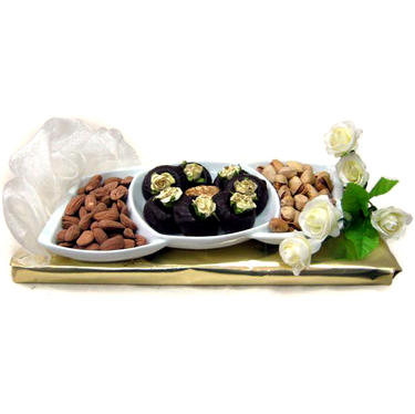 3-Section Ceramic Gift Tray