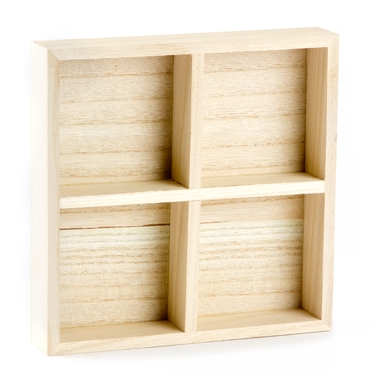 4-Section Wooden Nut Gift Tray