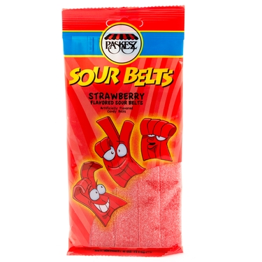 4 oz Sour Belts - Strawberry - 3-Pack