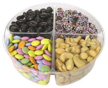 Candy, Nuts & Chocolate Tray - 4-section