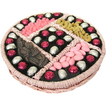 Pink Wicker Gift Tray