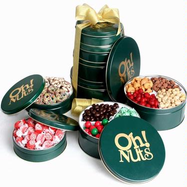 Holiday Keepsake Tin Tower