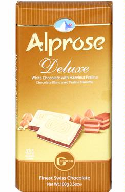 Alprose Deluxe White Milk Chocolate Bar