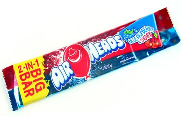 AirHeads 2 in 1 Taffy Big Bars - Blue Raspberry & Cherry (24CT Case