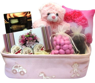 Pink Perfection Baby Girl Basket