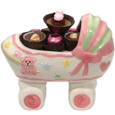 Baby Girl Ceramic Carriage