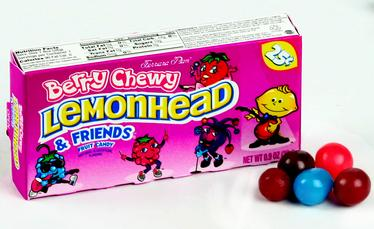 Berry Lemonhead & Friends Mini Candy Balls - Opened