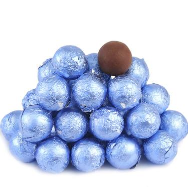 Pastel Blue Foiled Milk Chocolate Balls