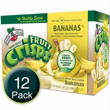 Freeze-Dried Banana Fruit Crisps - 12CT Box