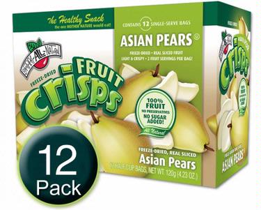 Freeze-Dried Asion Pear Fruit Crisps - 12CT Box