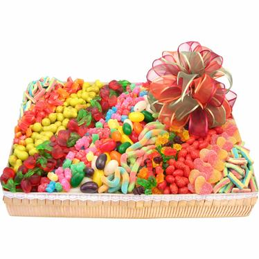 Candy Line-Up Gift Basket