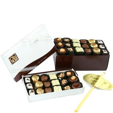 Rosh Hashanah Chocolate Truffle Box - 36 Pc.